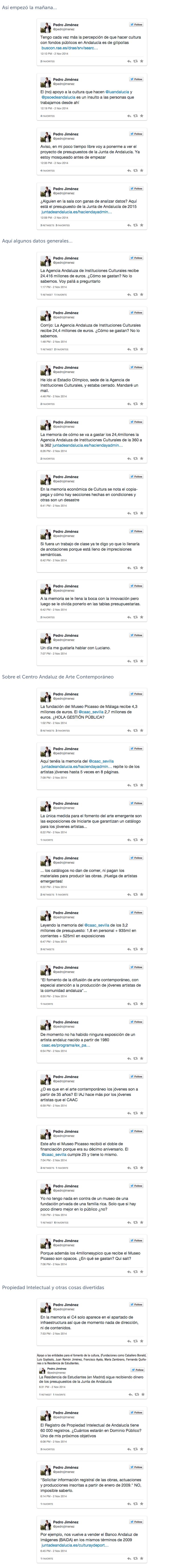 Presupuestos de Cultura de la Junta de Andalucía  with images  tweets  · pedrojimalvarez · Storify