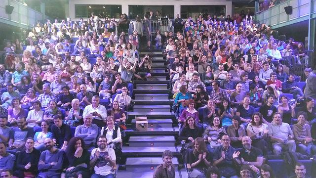 La foto desde el escenario.